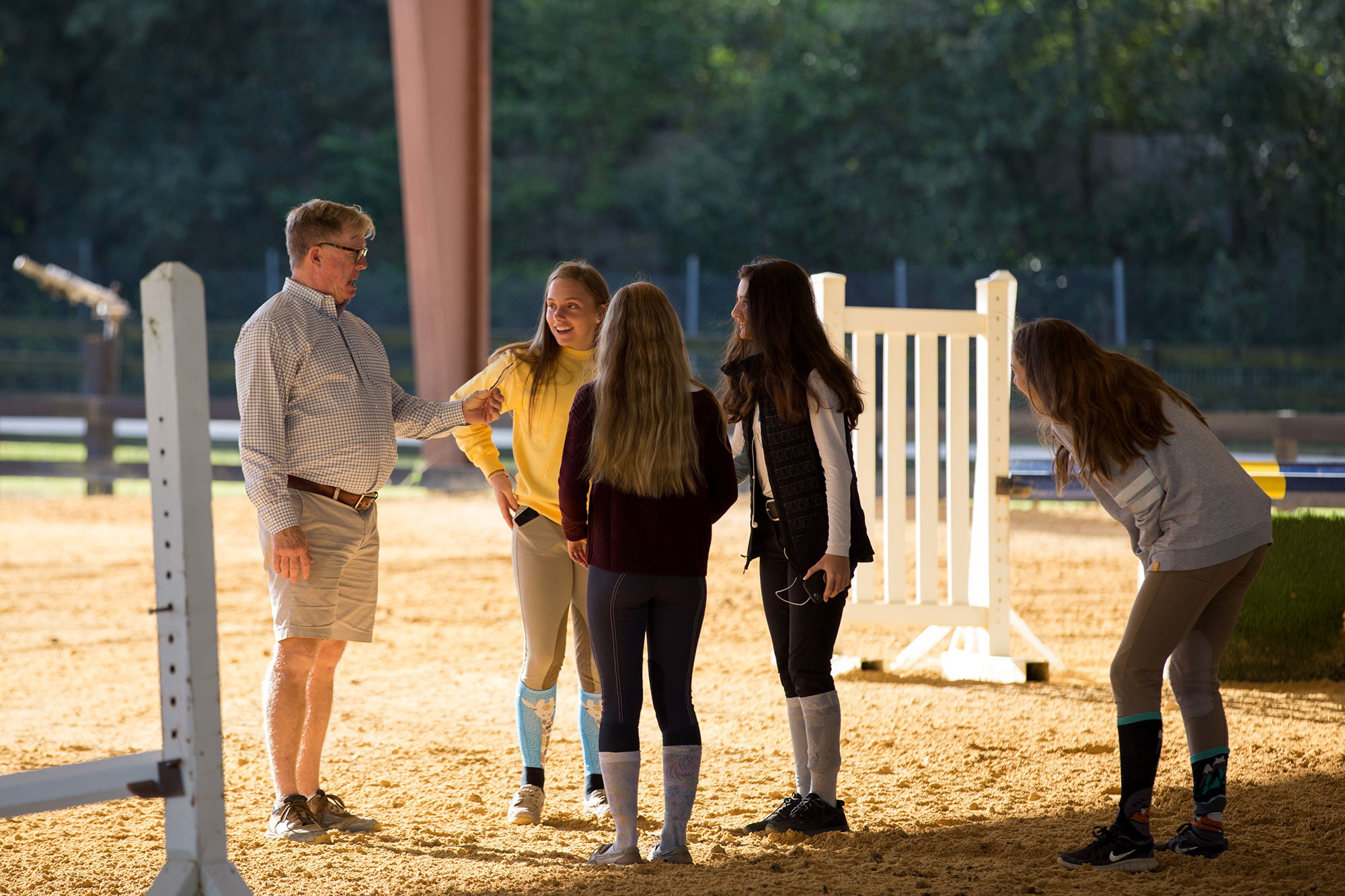 Waters Edge Stables, Professional equestrian facility, hunter/jumper specialty, full-service barn & facilities, horse boarding, riding lessons, horse shows, Waddy Oursler